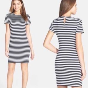 French Connection Dresses - French Connection Navy & White T-shirt Dress
